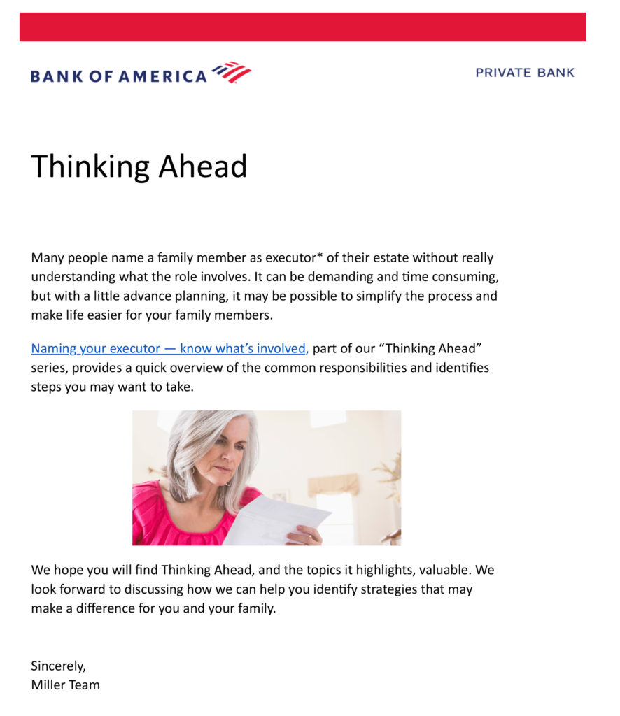 Thinking Ahead - Private Bank
